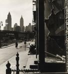 Rebecca Lepkoff, Broken Window on South Street, 1948