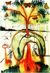 By Salvador Dali. Inspired by Alice in Wonderland.
