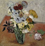 Still Life with Japanese Vase, Roses and Anemones (1890)
