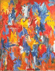False Start (1959)_1996 Jasper Johns_Collection David Geffen, Los Angeles_Licensed by VAGA, New York, NY