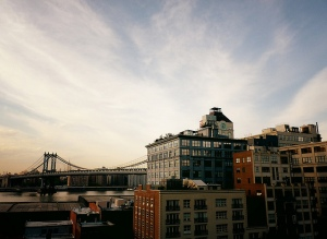 The Manhattan Bridge, View From Dumbo, Brooklyn, New York by Vivienne Gucwa